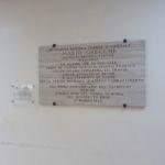 Lastra al partigiano Mario Grecchi - ospedale di Perugia