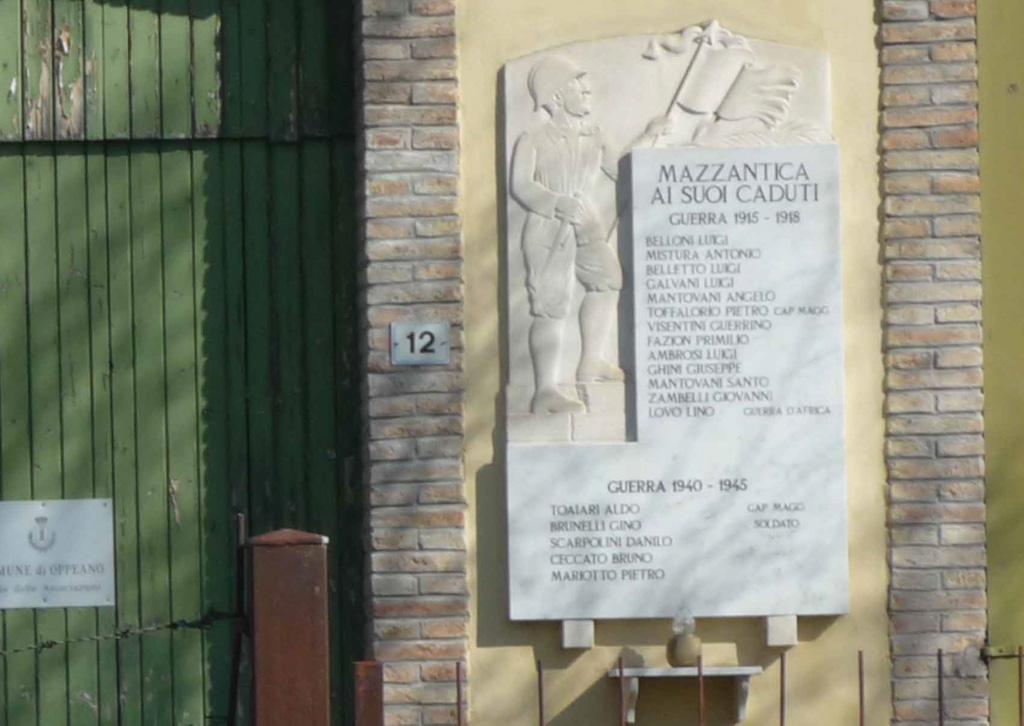 Lapide commemorativa Mazzantica