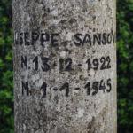 Cippo a Giuseppe Sansovini – Sant'Alberto