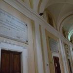 Lapide bollettino della resistenza al palazzo dell'Università di Perugia