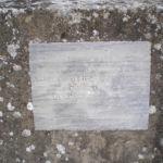Targa del crocifisso di Pieve S. Sebastiano PG