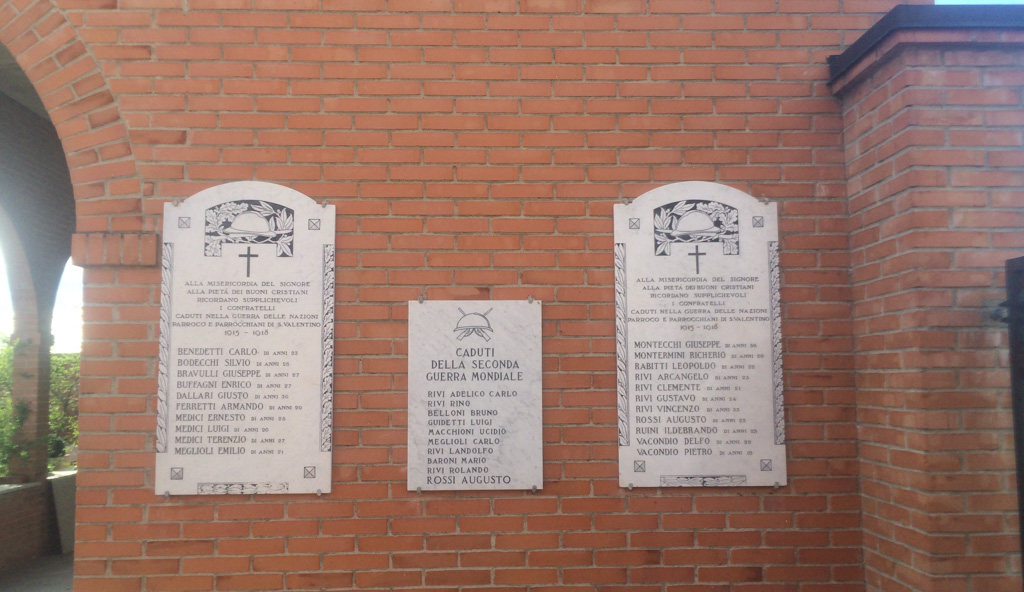 Lapidi Ai Caduti Della Grande Guerra E Della Seconda Guerra