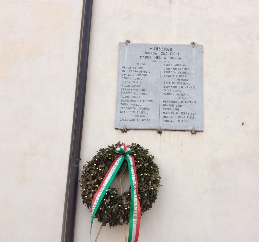 Lastra commemorativa Caduti seconda guerra mondiale