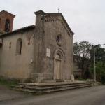 Chiesa di Boneggio con lapide