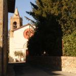 veduta della chiesa di Pilonico Materno