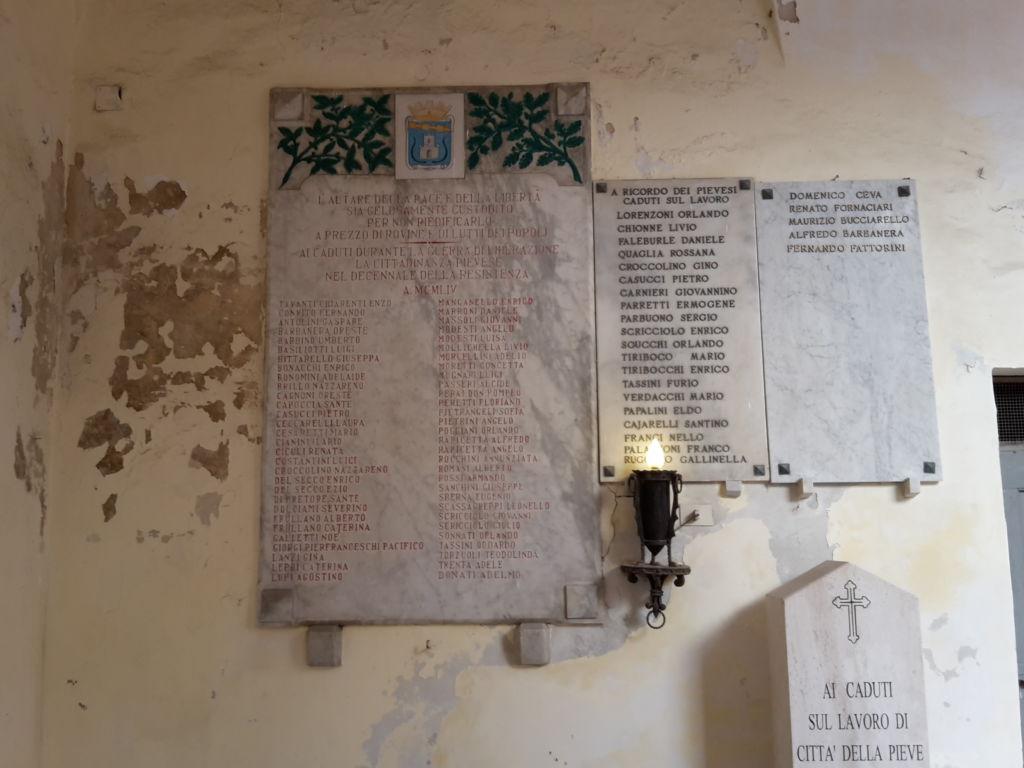 Lapide Caduti Città della Pieve guerra Liberazione