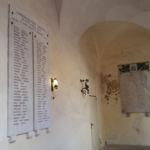 Lapide Caduti Città della Pieve guerra Liberazione e lastra Caduti guerra 1940-45