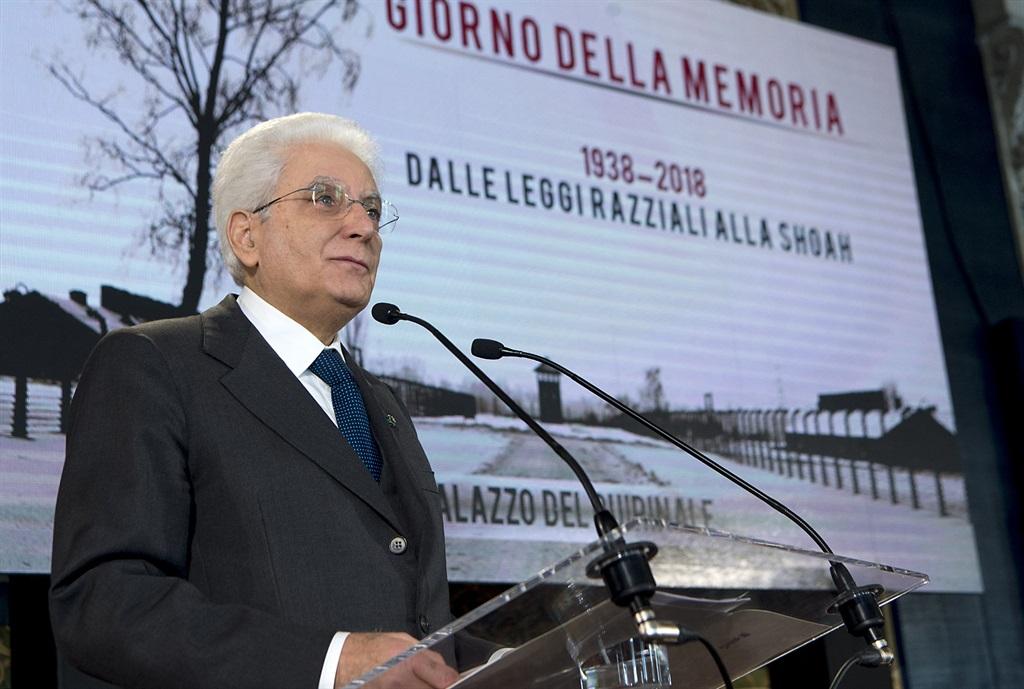 PRESIDENTE DELLA REPUBBLICA SERGIO MATTARELLA GIORNO DELLA MEMORIA 2018 - FOTO DA SITO QUIRINALE.it
