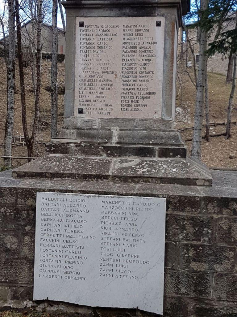 Vincenzo Rinaldi Nova Milanese monumento ai caduti delle guerre del '900 – frassinoro