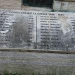 iscrizioni lastra lato ovest