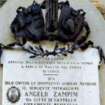 Lapide ad Angelo Zampini - Lerchi