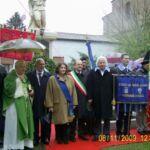 Le autorità presenti all'inaugurazione del restauro del 2009